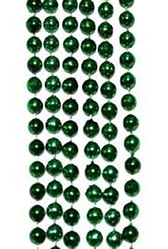 St Patrick's, Mardi Gras, Round Green Beads, 10 Dozen, 33
