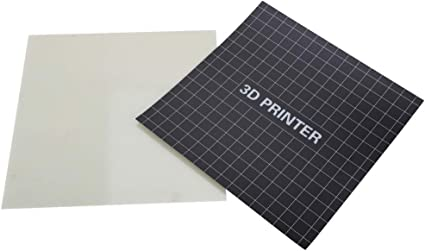 3D Printer Heat Bed Platform Sticker Sheet Tempered Glass Plate for Ender 3 3D Printer 220 x 220mm 3D Printing Build Surface