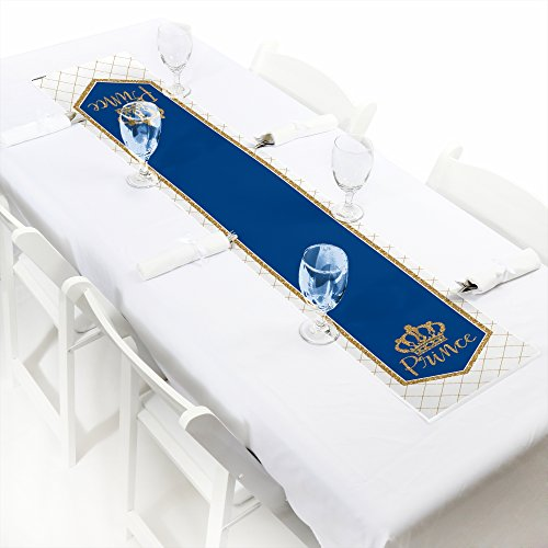 Royal Prince Charming - Petite Baby Shower or Birthday Party Paper Table Runner - 12