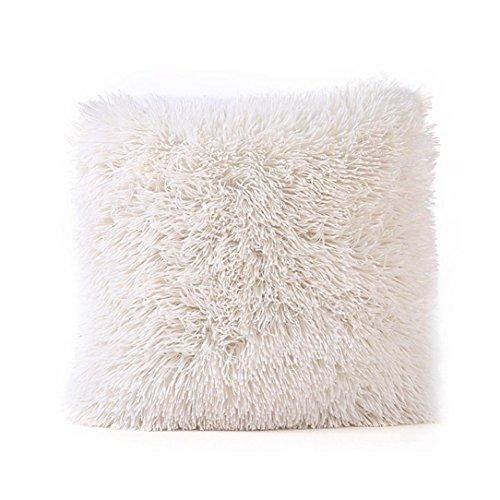 NEARTIME Pillow Case, Plush Fashion Cafe Home Decor Cushion (B)