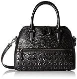 Nine West Fresh Perspective Satchel Bag, Black/Black, One Size