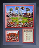 """Legends Never Die St. Louis Cardinals World Series Rings and Championships Collage Photo Frame, 11"""" x 14"""""""