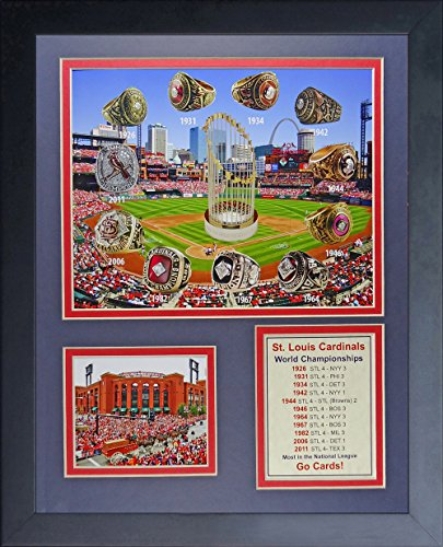 Legends Never Die St. Louis Cardinals World Series Rings and Championships Collage Photo Frame, 11