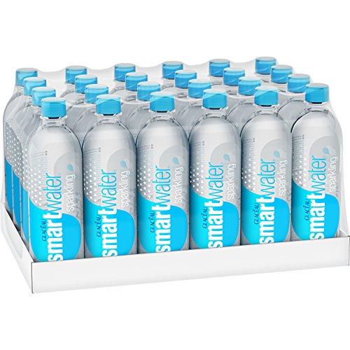 smartwater sparkling water, vapor distilled carbonated water bottles, 20 fl oz, 24 Pack