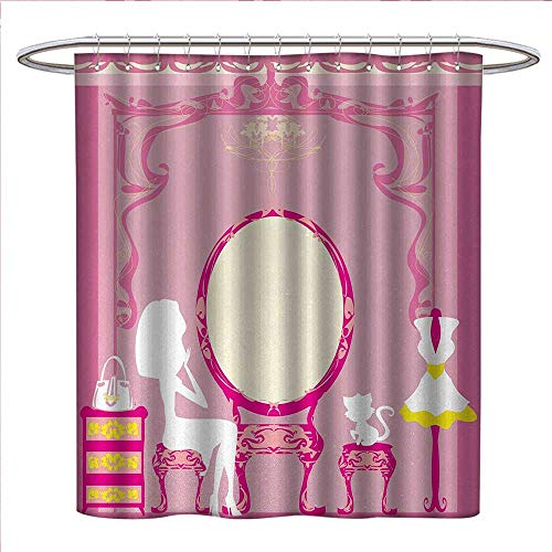 Anniutwo Girls Shower Curtain Customized Lady Sitting for sale  Delivered anywhere in USA