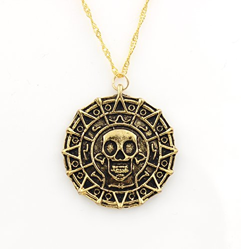 Steampunk - Skull Pirate Coin Necklace - Pirates
