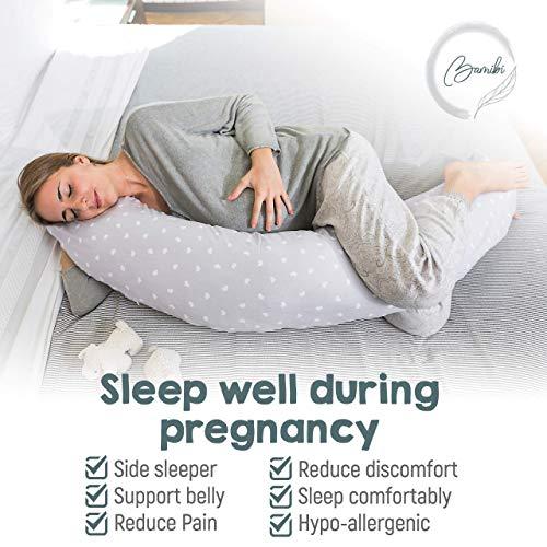 Almohada Embarazada Multifuncional, Cojín Lactancia Bebé, Cama Nido Bebé, Protector Cuna + Cojín Interno. Fundas 100% Algodón, Relleno 100% Poliéster ...