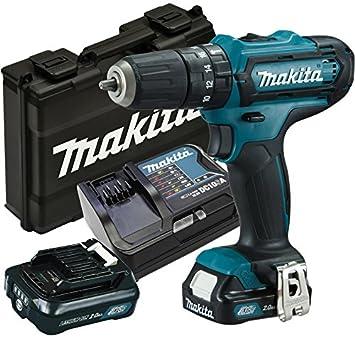 Makita hp331dsax3 - Atornillador, 2 x Batería/cargador en maletín ...