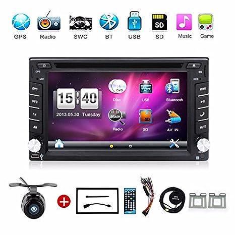 Con cámara Doble Din pulgadas coche GPS Navigation En Dash coche reproductor