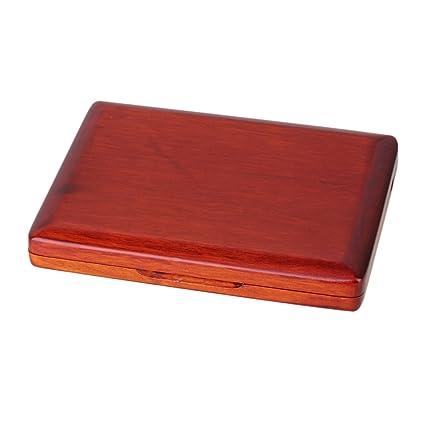 Yibuy アンバー 木製リードケース オーボエ用 12本収納
