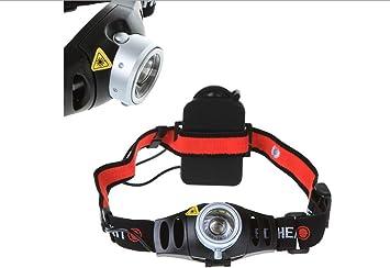 CursOnline® Mini linterna frontal con luz LED Cree Q5 y zoom ...
