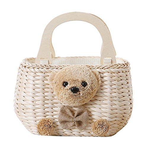 Tote Cross Handle Dunland Bag Handbag holiday Women Bag Bear Wooden Straw Beach Khaki Body Summer Bag qq4wPOB
