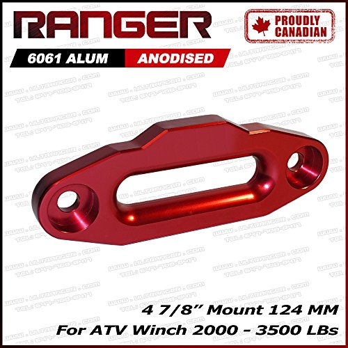 Ranger ATV Aluminum Hawse Fairlead For 2000-3500 LBs ATV Winch 4 7/8