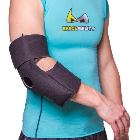 Elbow Ice Wrap & Heat Pad Brace with 2 Cold / Hot Gel Packs