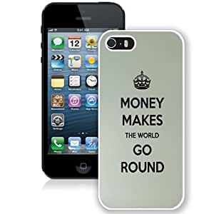 Personalized Phone Case Design with Money Makes The World Go Round iPhone 5s Wallpaper in White