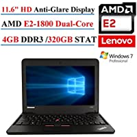 Lenovo ThinkPad X131E 11.6 Laptop, AMD E2-1800, 4GB DDR3, 320GB SATA, HD LED-Backlit, 802.11n, Windows 7 Professional (Certified Refurbished)
