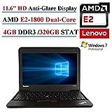 Lenovo ThinkPad X131E 11.6  Laptop, AMD E2-1800, 4GB DDR3, 320GB SATA, 802.11n, Webcam, HDMI, Windows 7 Professional (Certified Refurbishd)