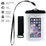 Waterproof Case,Ebow Armband Sweatproof Case for Apple Iphone 6s/6/5/4,samsung and Other Smartphone,protective Life Pouch Cover with Touch Responsive Clear Screen Protector (Five)