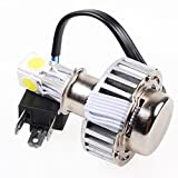 Custom 18W-24W Xenon White H4 9003 HB2 Motorcycle High Low Beam COB LED Headlight Bulb Set