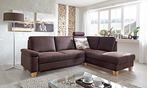 Polstergarnitur Iwan Braun Eiche Sofa Couch Sitzecke Sonderaktion