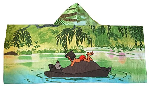 Disney Jungle Book Hooded Bath Towel Mowgli and -