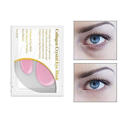 LiPing 1PC Crystal Gel Patch Anti Mask Eye Masks Anti-Wrinkle Eyelid Patch Circle Remove Dark Circles Under Eye Treatment Pad (Pink) -