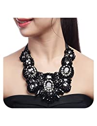 Holylove 4 Color Women Statement Necklace, Body Jewelry Neckalce for Women Novelty Costume Fashion Jewelry 1 pc with Gift Box