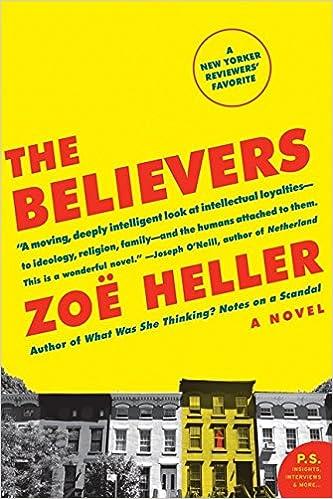 The Believers A Novel Zoe Heller 9780061430213 Amazon Books