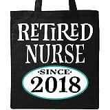 Inktastic - Retired Nurse 2018 Retirement Gift Tote Bag Black 2c8f2