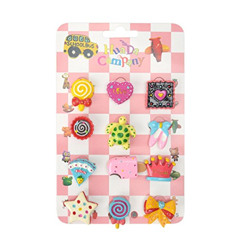 Maison Maxx Enamel Brooches Pins Set Of 12, Candy And Cake Badges, Gift  Idea For Kids (Random Color)