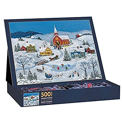 Lang Snowy Evening By Mary Singleton Jigsaw Puzzle 500 Piece By Lang