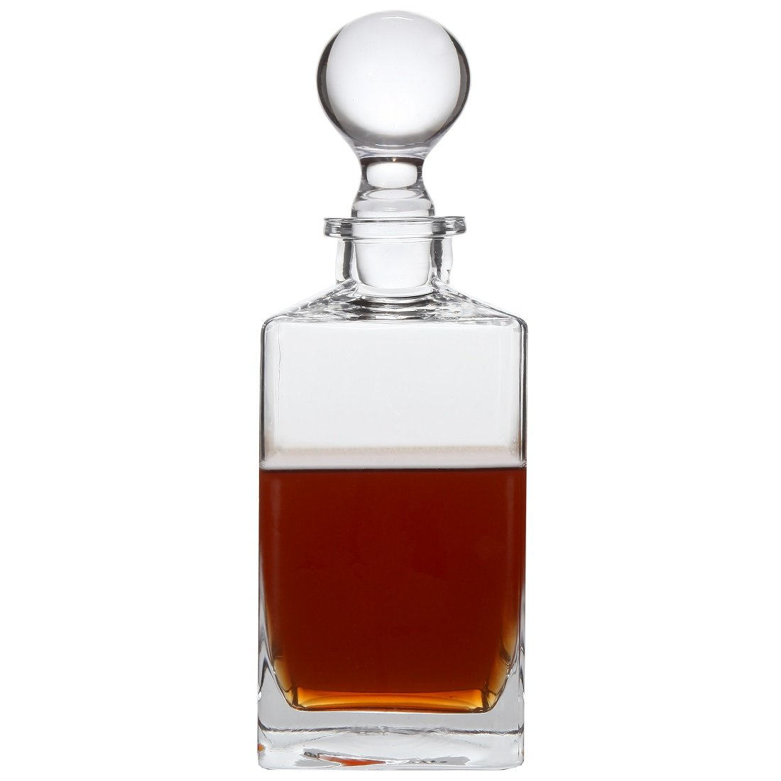 Lily's Home Wine, Liquor and Whiskey Decanter with Glass Stopper. 32 Oz.
