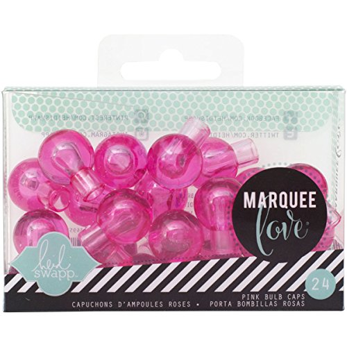 American Crafts 369558 24 Bulb Accessories with Extra Bulb Covers, Pink