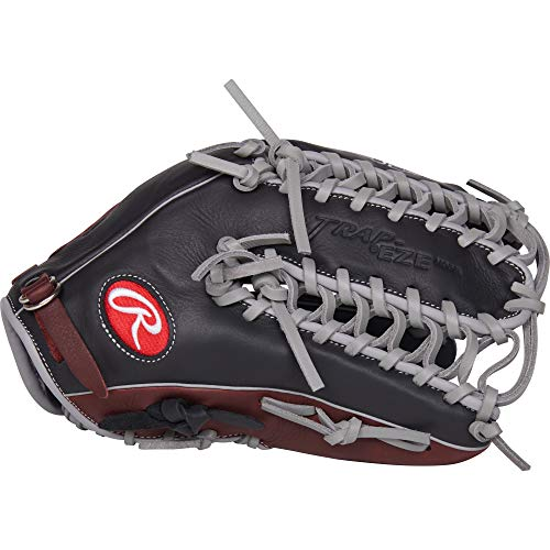 RAWLINGS R9 Baseball Glove, Black, - Inch Baseball Outfield 12.75 Glove