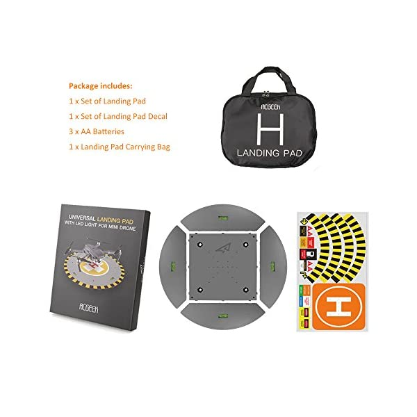 RCGEEK Drone Landing Pad Launch Pad with LED Lights Extensible for DJI  Mavic Air Spark DJI Tello Mavic Pro RC Mini FPV Helicopters Quadcopters  Drones