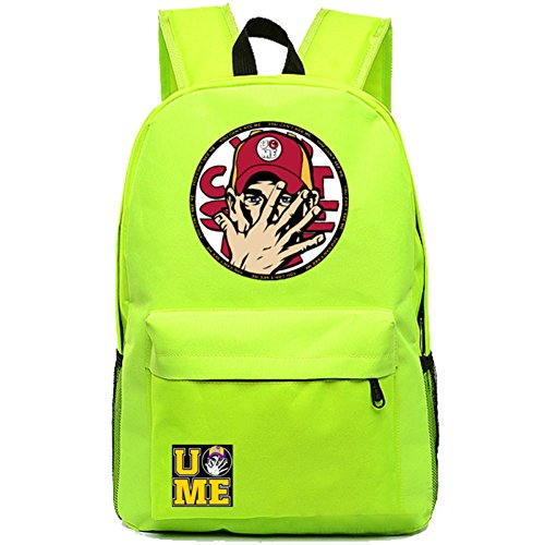 YOURNELO Cool WWE World Wrestling Federation Backpack Canvas School Bag Bookbag (C Green) by YOURNELO