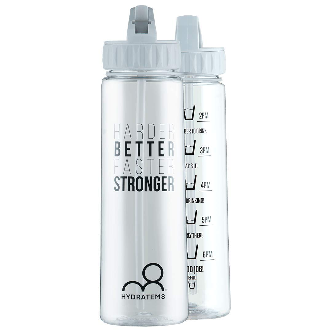 7ac0d447de HYDRATEM8 Grey 900ml Hydration Tracker Water Bottle With Motivational Quote  BPA Free: Amazon.co.uk: Sports & Outdoors