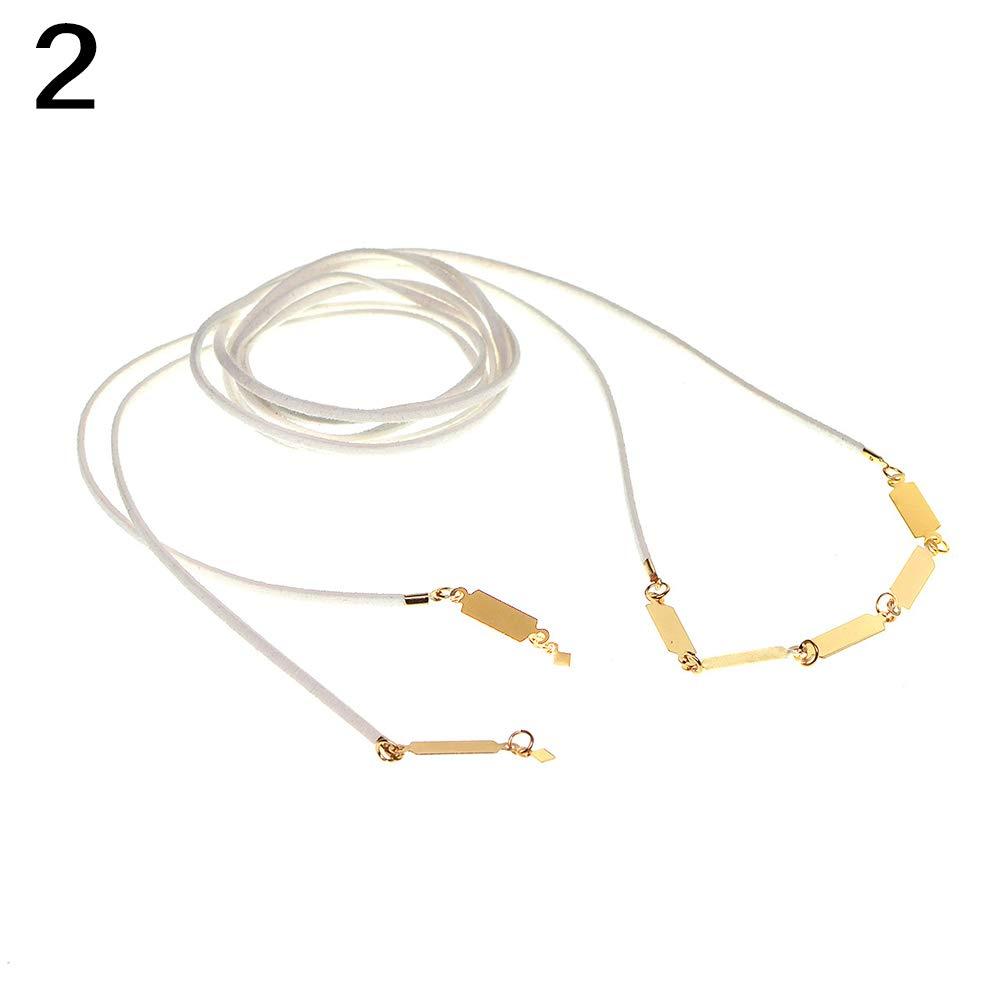 SoundsBeauty Bohemian Style Multilayer Velvet Choker Long Necklace Jewelry Gift White