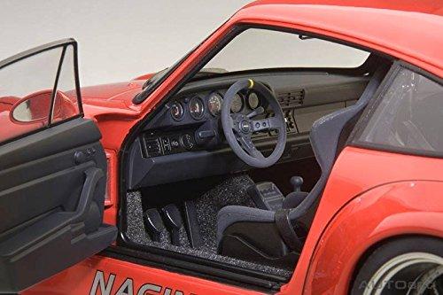 Amazon.com: Porsche RWB 993 Red with Gun Grey Wheels 1/18 by Autoart 78153: Toys & Games