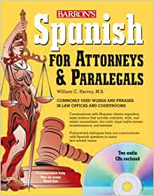 Amazon Com Spanish For Attorneys And Paralegals With