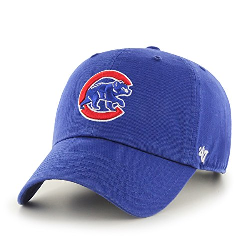 '47 MLB Chicago Cubs Clean Up Adjustable Hat, Royal - Alternate, One (Chicago Cubs Pullover)