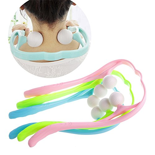 Stebcece New Comfortable Neck Massager Roller Shoulder Back Pain Ball Self-massage Tool