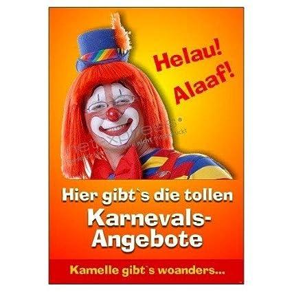 Karnevals-Poster para Decoración Din A1, Cartel de ...