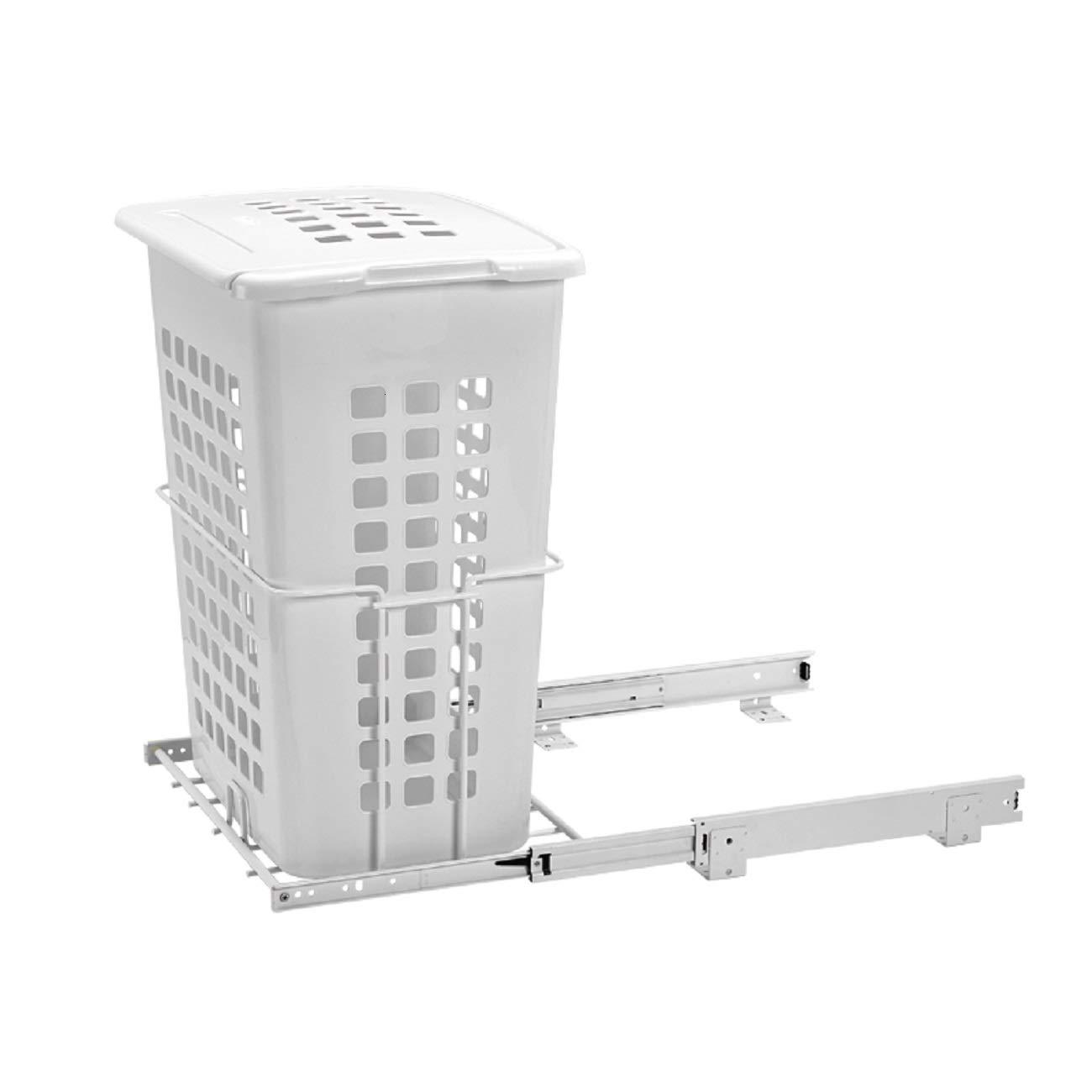 ハンパー下部取り付けワイヤ ポリマー容器/蓋付き クローゼット用 HPRV-1925 S - 2 BSHL - ホワイト B01BH80SEG