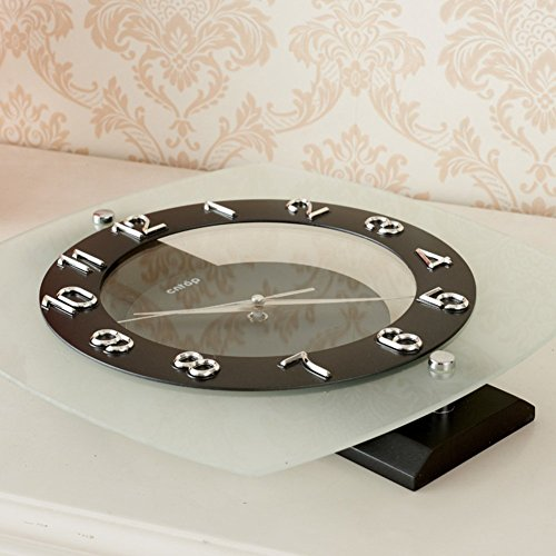 Wall Clock modern Quartz quiet decoration not refined of health in Arab figures-a 12inch by gerewe (Image #3)
