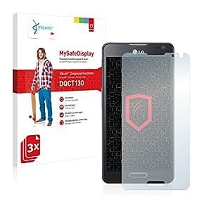 3x Vikuiti MySafeDisplay Protector de Pantalla DQCT130 de 3M para LG Electronics Optimus F6 D505