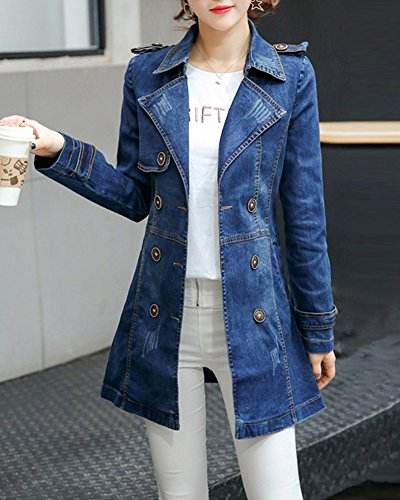 Image Jacket Manteau Blouson Veste Denim Jeans Trench Comme Longue T55wfBx0