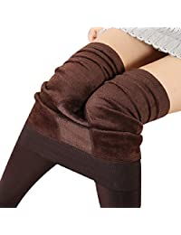 Shensee Winter Thick Warm Fleece Lined Thermal Stretchy Leggings Pants