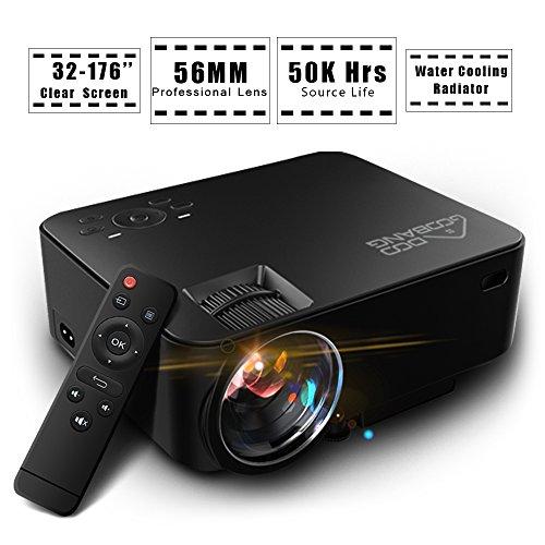 1500 Lumens Video Projector, GooBang Doo T20 LCD Mini Hom...