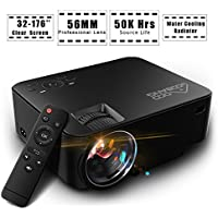 1500 Lumens Video Projector, GooBang Doo T20 LCD Mini Home Theater Projector Support HDMI USB SD AV VGA TV Interface with Free HDMI Cable